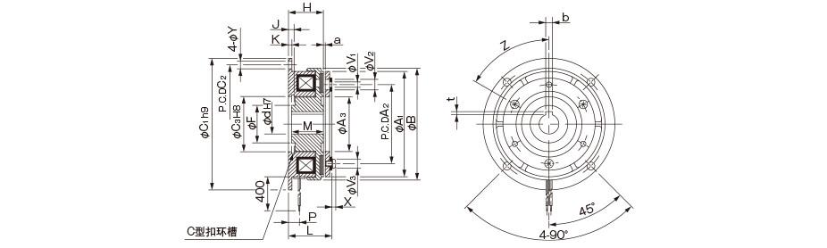 单片式摩擦离合器结构简图