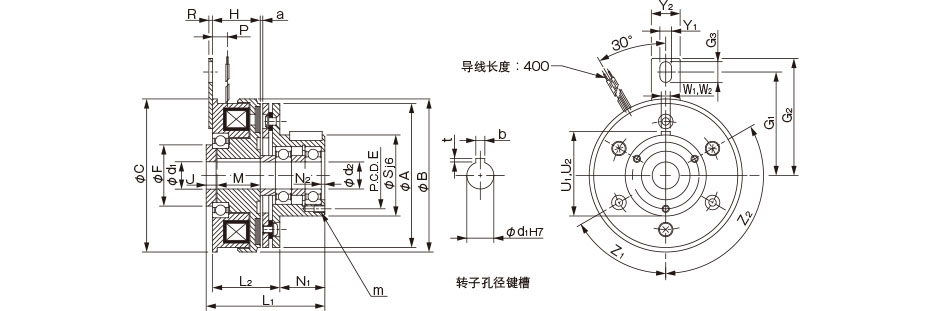 75千瓦励磁电机接线图