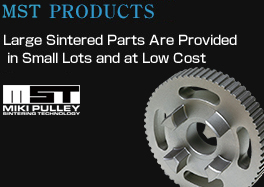 MST Products (large sintered parts) are provided in small lots and at low cost.