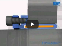 Frictional coupling with a pressure medium/Friction shaft lock : ETP-A